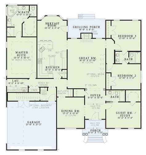 brick home floor plans brick house plans classic brick colonial home 80696pm