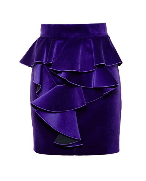 Velvet Skort lyst balmain velvet frill skirt in purple