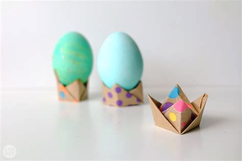 How To Make Origami Easter Eggs - origami easter egg stand i try diy