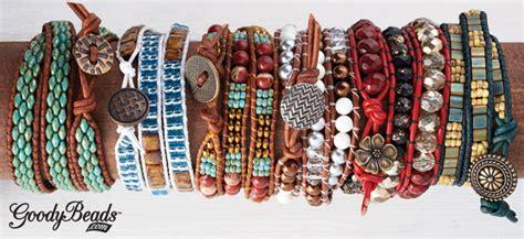 seed bead and leather bead weaving kits goodybeads