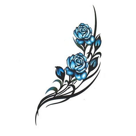 fake rose tattoos 1000 ideas about blue tattoos on