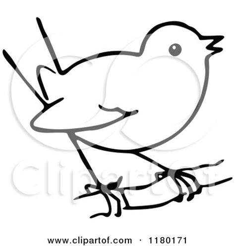 clipart of a black and white sketched bird 5 royalty
