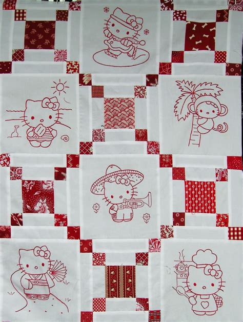 Hello Quilt by Hello Redwork Quilt Really Quilts For