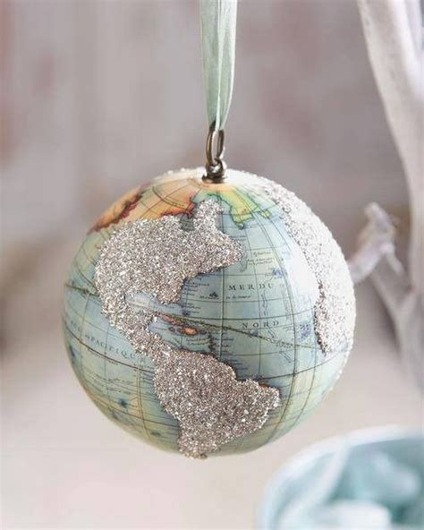 world globe ornament vintage globe globes and ornaments on