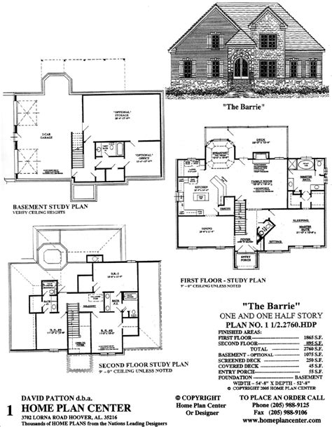 story and half house plans home plan center 1 1 2 2760 barrie