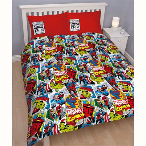 marvel bedding and curtains marvel comics justice double reversible duvet cover thor
