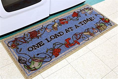 laundry rugs on sale laundry rug quot one load at a time quot decorative laundry mat by bacova 21 quot x ebay