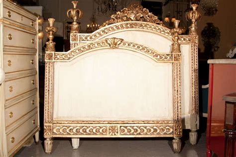 louis xvi headboard louis xvi style headboard and footboard jansen at 1stdibs