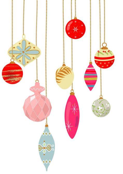 10 vintage christmas ornament clip art pastel color
