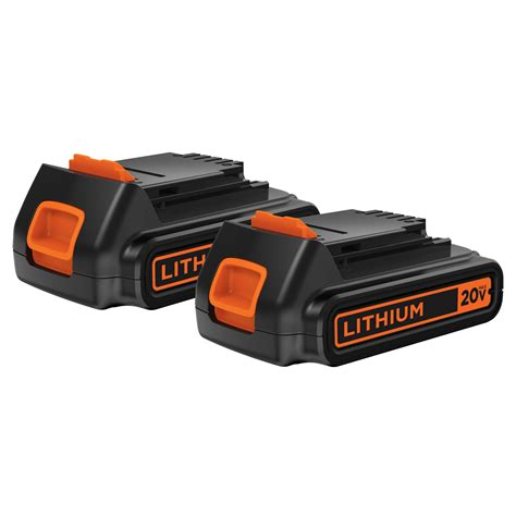 black decker batteries black decker 20v max lithium ion battery 2 pack tools