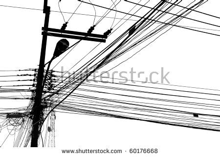 electric wire black and white stock photo 60176668