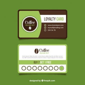 Coffee Loyalty Card Template by Coffee Shop Loyalty Card Template Vector Free