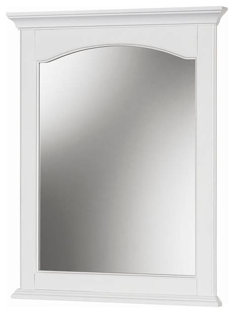 24 bathroom mirror alonzo white wall mirror 24 quot x30 quot transitional