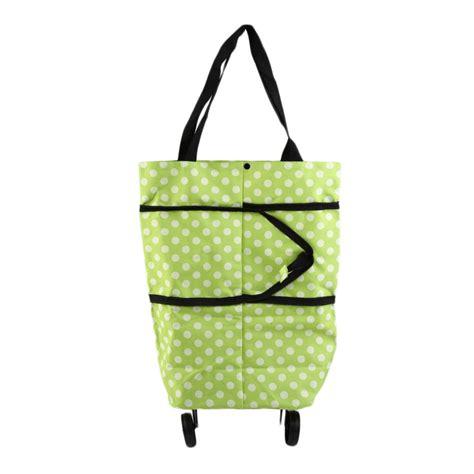 Shopping Bag Handle portable folding wheel handle carry shopping bag rolling