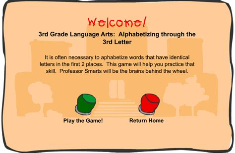 4 Letter Words In Alphabetical Order third grade language skill builders alphabetical order