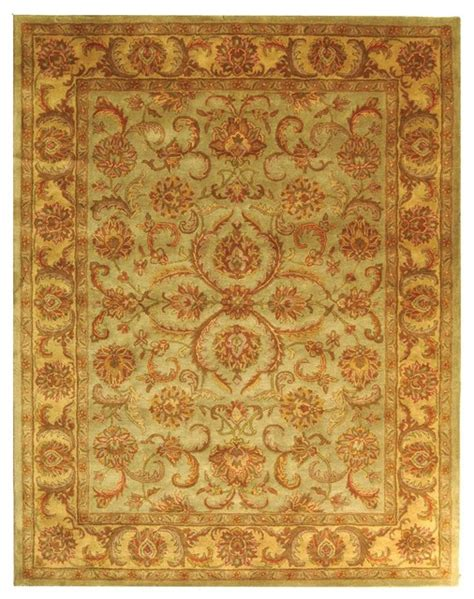 Houzz Area Rugs Safavieh Heritage Green Yellow Area Rug Hg811a Area Rugs Houzz