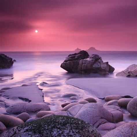 evening calming rock ocean sea landscape ipad air