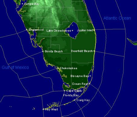 south florida weather map marine