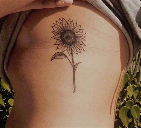 tattoo designs on ribs 20 of the most boujee sunflower ideas