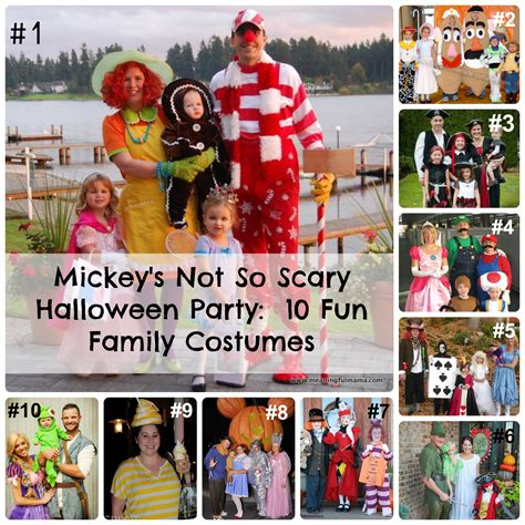 here are some costumes from mickeys halloween party at mickey s not so scary halloween party 10 fun family