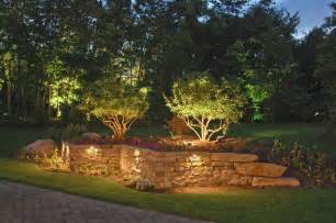 Landscape Accent Lighting Deck And Wall Lighting Outdoor Accents Lighting Home Decking Retaining Walls