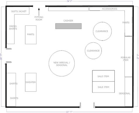create a floor plan for a business boutique free flow store layout floor plans pinterest