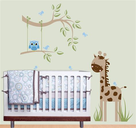 Wall Decorations For Nursery Baby Nursery Decor Owls Corners Baby Nursery Wall Decor Minimalist Designs Hardwood Materials