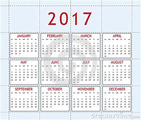 Anno 0 Calendario Haga Calendarios Por El A 241 O 2017 Fotograf 237 A De Archivo
