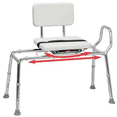 sliding transfer bench with swivel seat transfer bench with padded sliding and swivel seat heavy