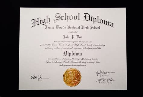 high school diploma template with seal buy a high school diploma