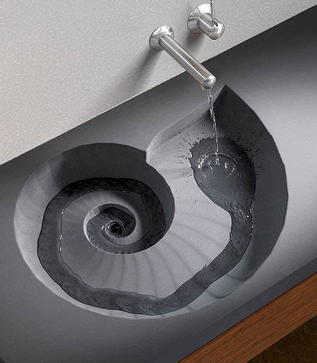 Corian Stein by Ammonite Washbasin Shaped As A Fossil Tuvie