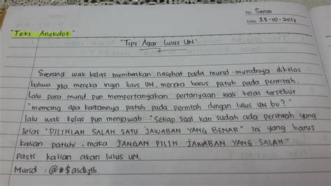 tugas bahasa indonesia membuat teks anekdot makna tersirat dari teks anekdot diatas adalah 2
