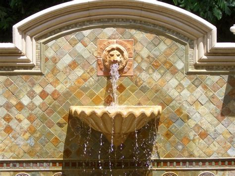 patio wall fountains water cast wall