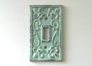 vintage green decorative light switch cover made of