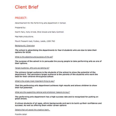 brief client primary research questionnaire 789860 187 order custom essay