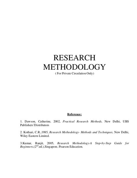 exle methodology research paper research methodology