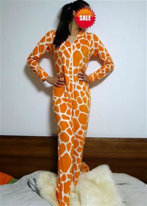 Piyama Sleepy Giraffe giraffe kigurumi pajamas for footed onesie