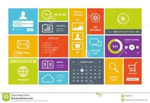 windows 8 modern ui design layout stock vector image