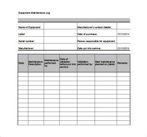 maintenance log sheet charlotte clergy coalition