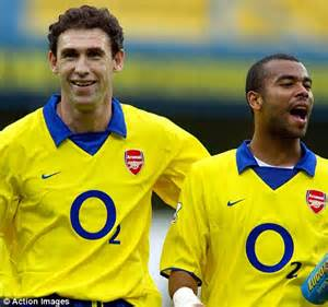 Keown guided cole during the left back s formative years at arsenal