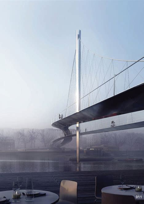 design contest launched for another thames bridge designs for elms bridge over london s river thames revealed