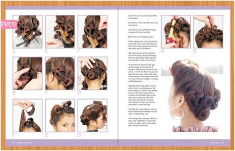 step by step vintage hairstyles vintage hairstyling retro styles with step by step