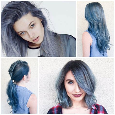 hair color of 2017 creative blue hair color ideas for 2016 2017 best hair