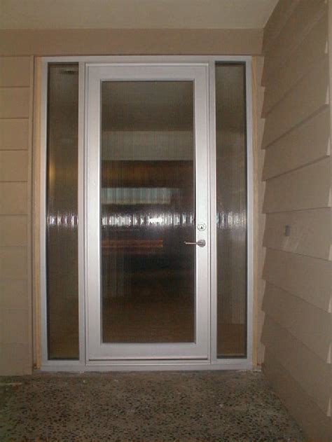 single glass exterior door model bp 450 single entry door w sidelites size 3 x 8 frame clear anodized aluminum glass