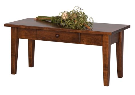 elm crest 573 shaker coffee table with drawer
