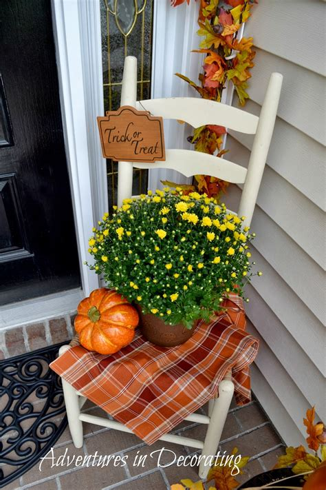 adventures  decorating  fall front porch