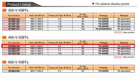 datasheet transistor gt30f124 30g124 datasheet pdf 430v 200a igbt gt30g124