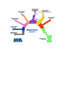Miami Terminal Map by Miami International Airport Terminal Map 4200 Nw 21