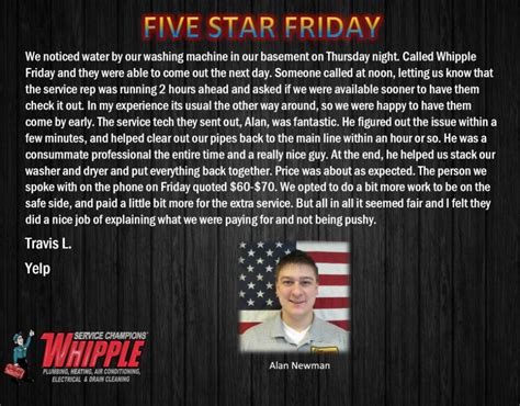 Whipple Plumbing Utah by Five Friday 01 29 2016 Whipple Service Chions