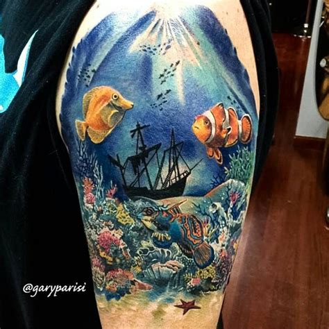 underwater sleeve tattoo designs 610 likes 10 comments fusion ink fusion ink on